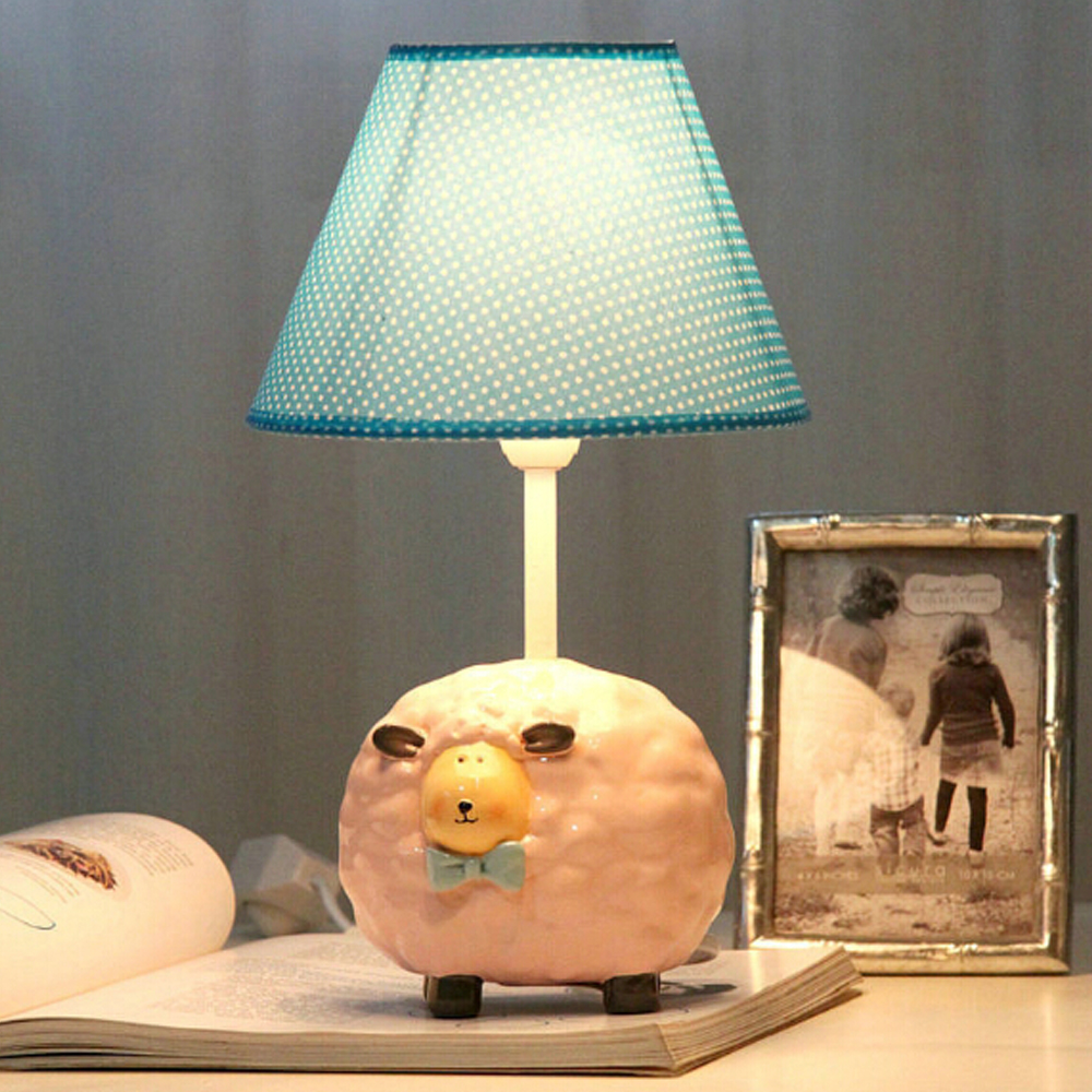 Kids Sheep Creative Small Lamp Desk Lamp E14 110V-220V Children Room Led Table Lamp Reading Lamp Led Switch Button innovation and unique ice block desk table lamp creative small ice lamp g9 220v free shipping