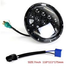 7inch 75W LED Headlight Car Led Driving Light Hi/Lo Beam H4 H13 For Jeep Wrangler