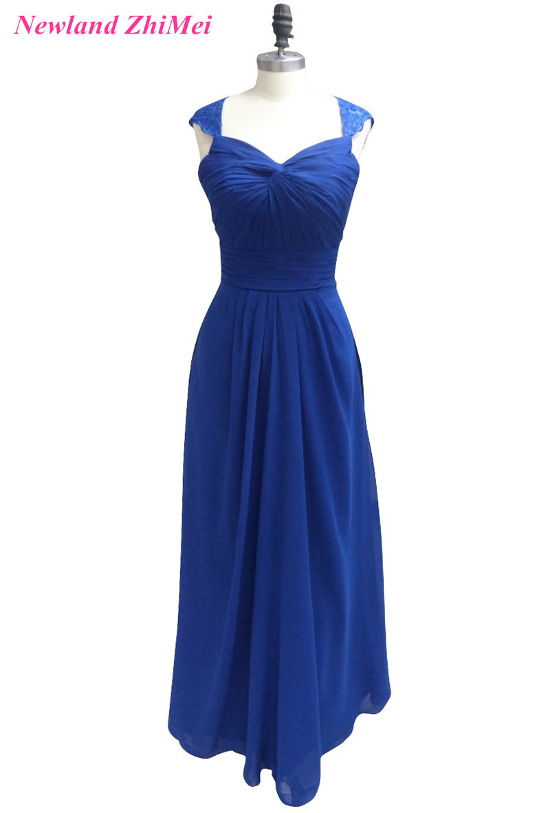 New Arrival Blue Summer Prom Dresses 2017 Special Design Sweetheart Open Back Pleat Chiffon Dress for Prom Night