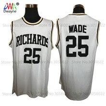 2017 Dwayne Dwyane Wade jersey Mens Cheap Basketball Jerseys 25 Stitched Shirt Highlights of Richards High School White Jerseys