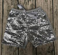 hot Sale girls sparkle sequin sweet shorts Birthday girls for celebrations matching sparkle Shorts knot headband can make