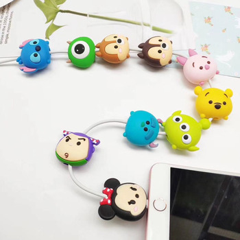 100pcsCartoon Protector Cable Cord Saver Cover Coque For iPhone8 Plus 5 5S SE 5C 6 6S 7 X Xs Max XR For Funda iPhone 7 Plus case