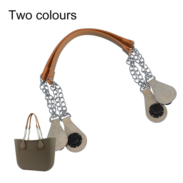New Italy Obag 1 Pair Long Rope Handle with Drop End Metal Chain for Bag O Bag Accessories for EVA Obag Style  Women's Bags