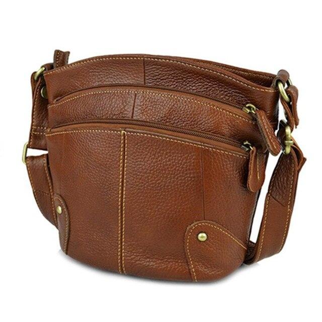 100% Cowhide Women Crossbody Bag Genuine Leather Small Messenger Bags For Ladies Shoudler 2019 bolsa feminina bolso mujer AR01