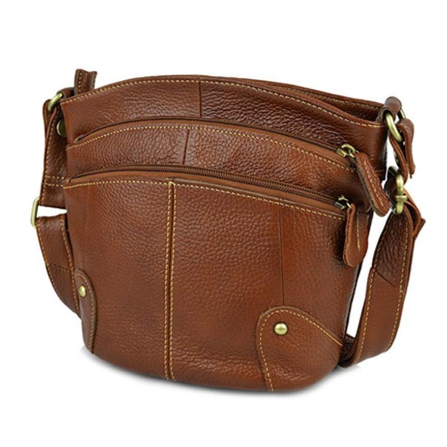 Cowhide Women Crossbody Bag Genuine Leather Small Messenger Bags Ladies Shoudler Bags AR01