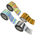 1 Roll 120m Nail Art Transfer Foils Glitter Sticker Decals DIY Adhesive Full Tips Accessory Gold/Silver/Laser Gold&Silver NC272