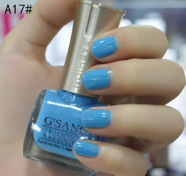 best china french G\'SANG brand name light blue nude nail art lacquer ...