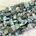 "Natural Genuine Blue Larimar Nugget Free Form Loose Beads Fit Jewelry Necklace Bracelets 15"" 04325"