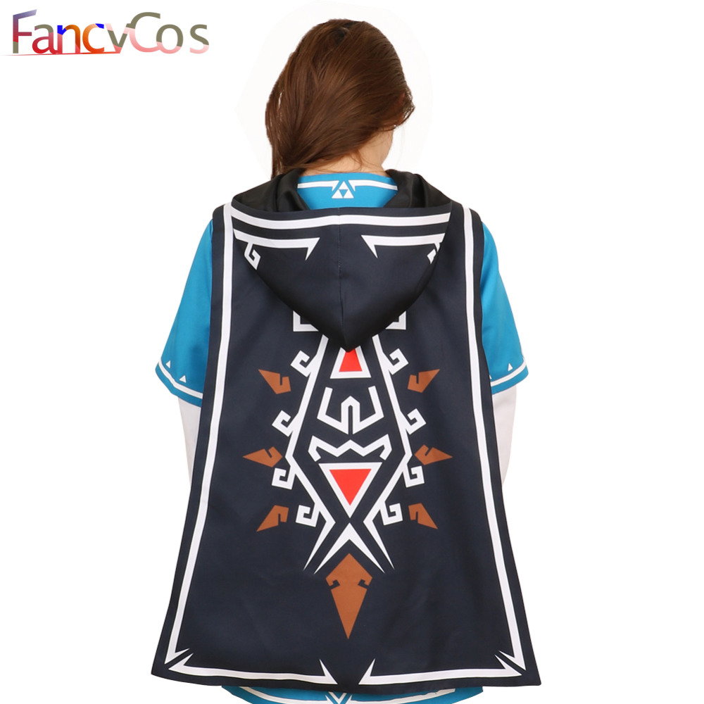 Halloween The Legend of zelda breath of the wild Link Cloak Costume Cosplay Accessories Game Anime Japanese