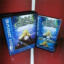Light Crusader EU крышка с коробкой и руководство для Sega megadrive Genesis игровая консоль 16 бит MD карта