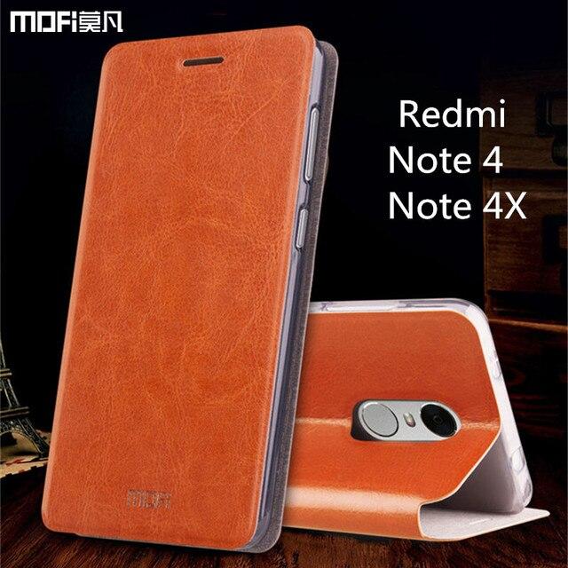 """Xiaomi Redmi note 4X case Global Version Xiaomi Redmi note 4 case MOFi original redmi note 4 pro flip case PU leather 5.5"""""""