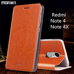 Xiaomi Redmi note 4X case Global Version Xiaomi Redmi note 4 case MOFi original redmi note 4 pro flip case PU leather 5.5