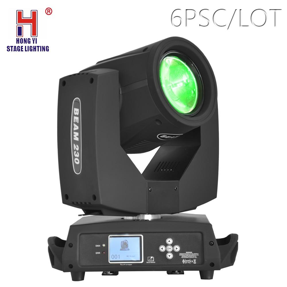 230W 7R LED Lyre Moving Head Light Beam Spot Wash Lighting dmx control for DJ Disco Nightclub Party stage equipment 6pcs/lot