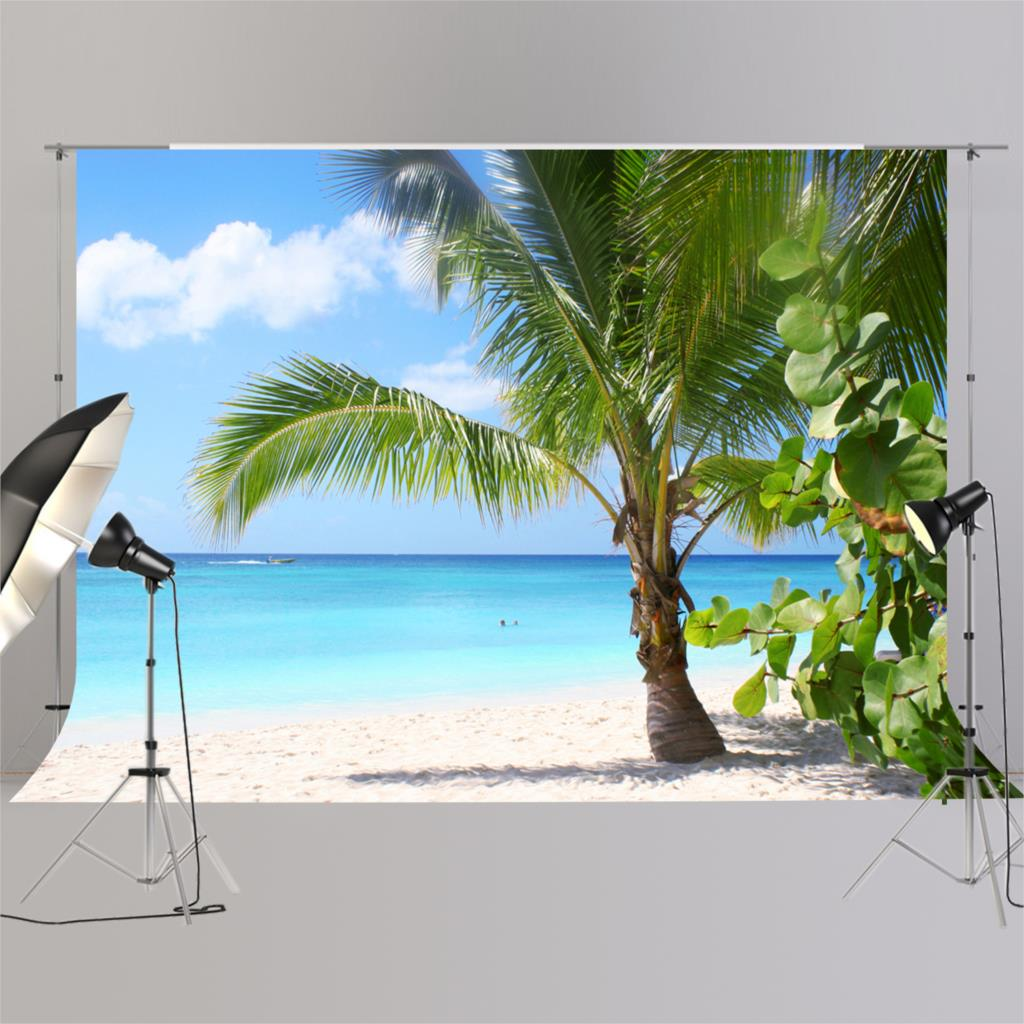 Backdrop for Summer Party Pictures Photography Hawaii Beach background for Studio XT-6591Backdrop for Summer Party Pictures Photography Hawaii Beach background for Studio XT-6591