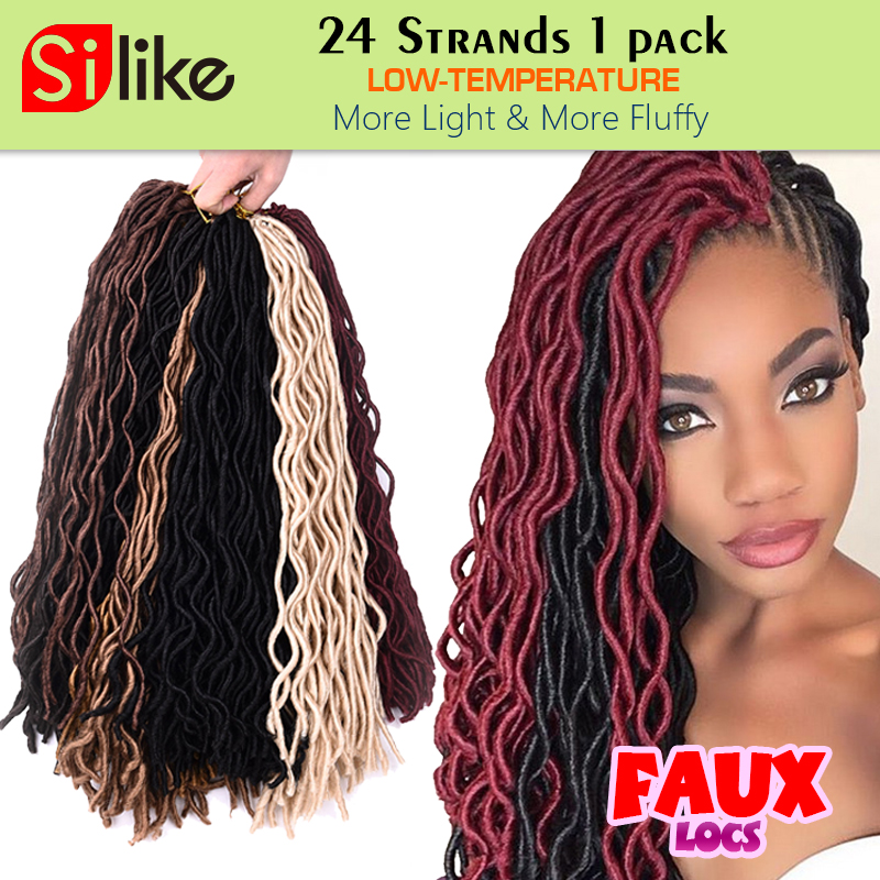 Silike Faux Locs Curly Crochet Hair 12 20 Inch 24 Roots Crochet