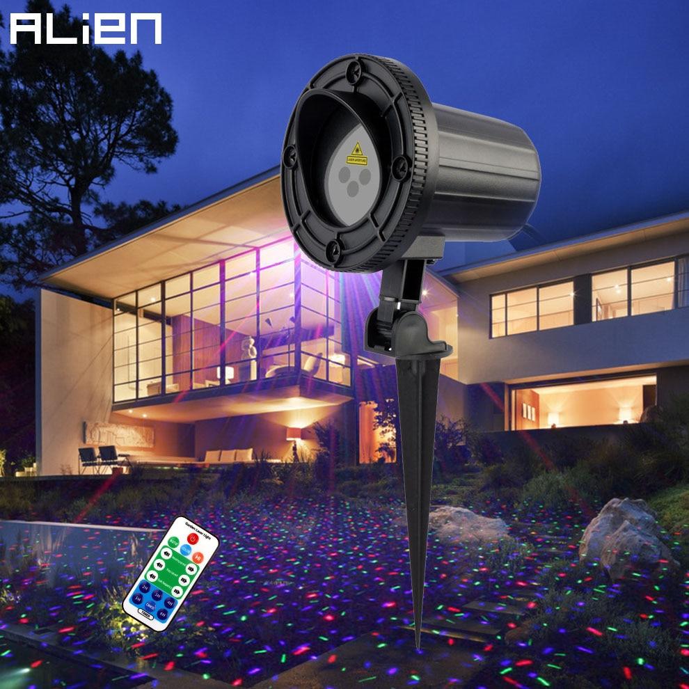ALIEN Outdoor RGB Star Laser Projector Shower Light Waterproof Garden Christmas Lights Outdoor Xmas Tree Holiday Party Lighting