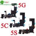 50 pcs Original 5C 5S 5G Fone De Ouvido Carregador de Carregamento porto Doca USB conector cabo flex para iphone 5 5g 5c 5s novo com rastreamento