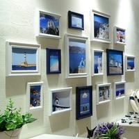 Taze Okyanus Yaratıcı Tasarım Duvar Asılı Fotoğraf Çerçeveleri Seti 15 Adet Resim Çerçeveleri Kombinasyonu Ev Ev Dekor Fotoğraf Çerçeveleri Seti