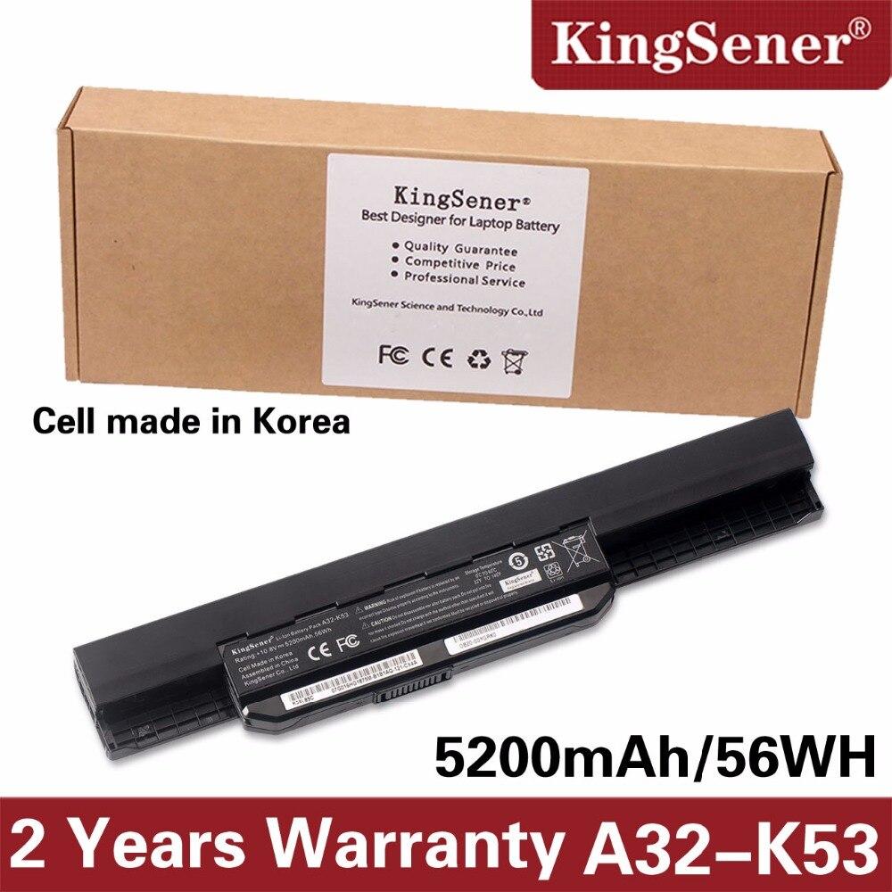 Korea Zelle KingSener Neue A32-K53 Batterie für ASUS K43 K43E K43J K43S K43SV K53 K53E K53F K53J K53S K53SV A43 a53S A53SV 5200 mah