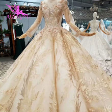 AIJINGYU 웨딩 드레스 의상 가운 하나의 고딕 공 디자인에 새로운 유행 2 럭셔리 가운 2021 짧은 온라인 쇼핑을 구입 중국