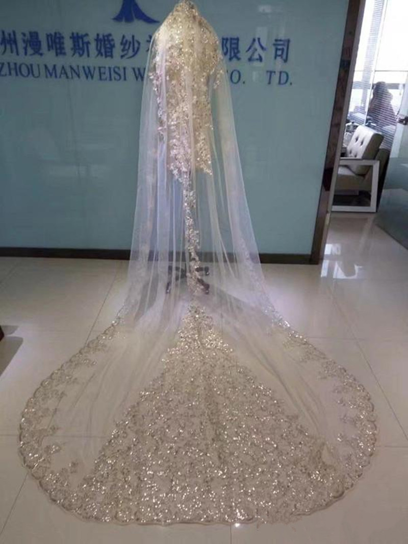 real-image-bridal-veils-sequins-luxury-cathedral