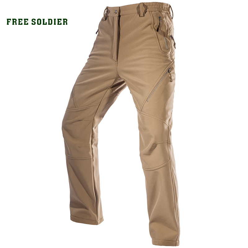 FREE SOLDIER Outdoor Sport Camping Hiking Military Tactical Pants Men s Soft Shell Fleece Fabric Instant