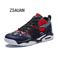 ZSAUAN Vintage Men's Casual Shoes High Top Unisex Sneakers 2019 Summer Spring Female Popular Mesh Shoes Big Size 36 47 Non slip