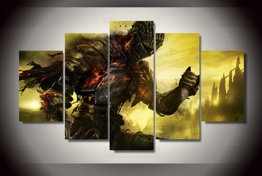 Modern Decorative Picture Printed Dark Souls Game Painting On Canvas Room  Decoration Print Poster Picture Canvas Wall Art In Painting U0026 Calligraphy  From ...