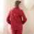 Qianxiu Primavera Pijamas para las mujeres 100% ropa de Dormir de Algodón de manga Larga Traje femenino Más tamaño Pijama trajes