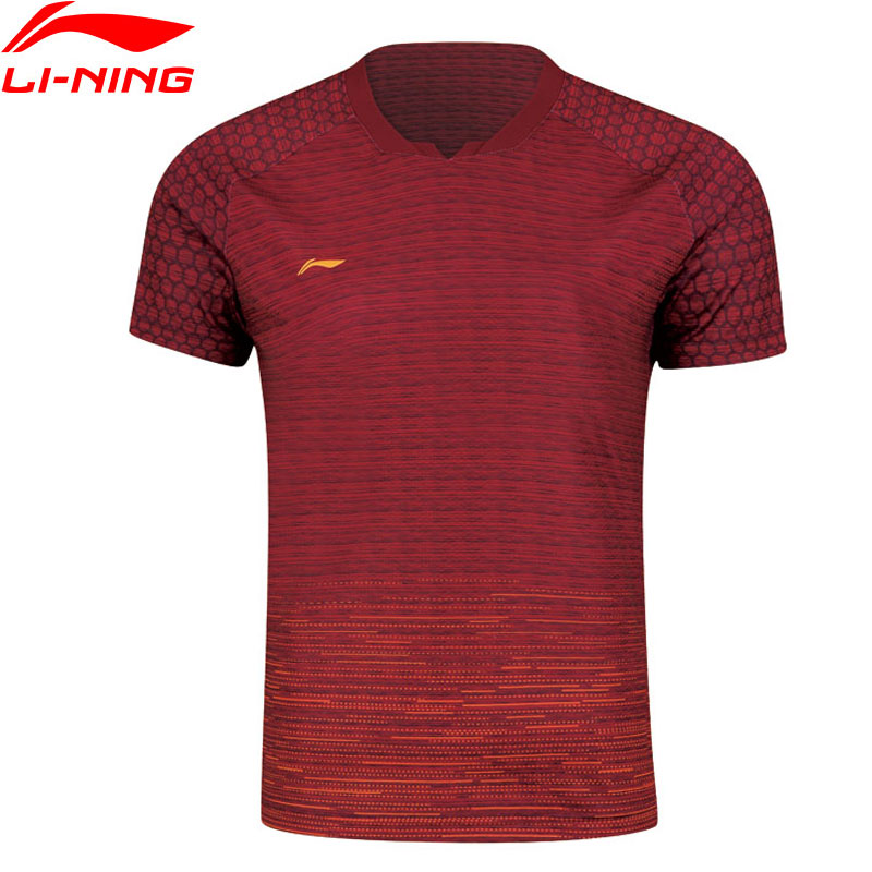 Li-Ning Men Badminton T-Shirts Competition Top Comfort AT DRY Breathable Fitness LiNing Sports Tees T-Shirt AAYN315 MTS2843 Футболка