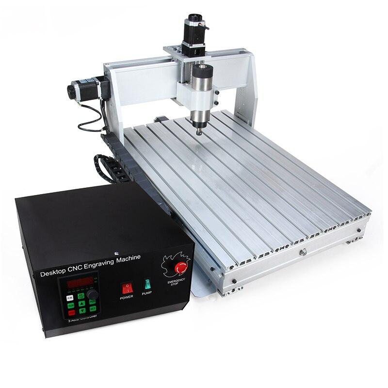 6040 2.2KW 4 eixo CNC router CNC máquina de escultura em madeira USB Mach3 Carpintaria Milling Gravador Máquina com Refrigeração de controle/ ar