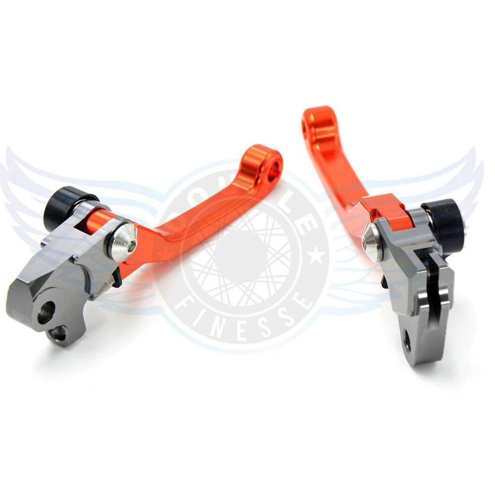 ФОТО motorcycle  Pivot Brake Clutch Levers cnc aluminum brake clutch lever For Kawasaki KX250F  2005 2006 2007 2008 09 2010 2011 2012