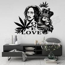 YOYOYU Bob Marley Lion Zion ONE LOVE Wall Stickers Reggae Rock Steady Music Art Sticker Singer Portait SeriesZW264