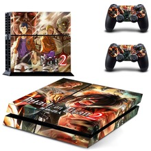 Attack On Titan 2 PS4 Skin Sticker for Sony PS4 PlayStation 4 and 2 controller skins