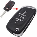 VA2 Blade for PEUGEOT Partner 306 407 Partner Modified 3 Buttons Flip Folding Remote Key Fob Case Shell Cover With Logo