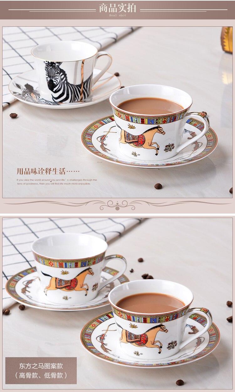 ツ)_/¯European simple low bone china coffee cup sets creative ...