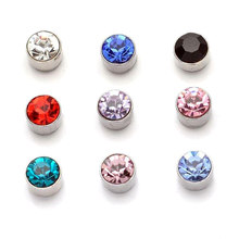 2018 New Magnetic Crystal Stud Slimming Earrings Slimming Patch Lose Weight Magnetic Health Jewelry Clip On No Ear Hole Gift(China)