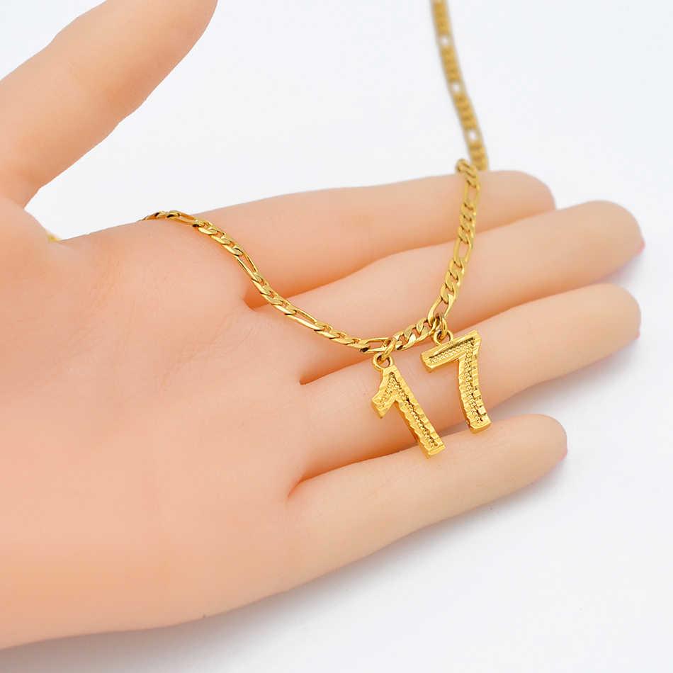 Lat numer naszyjniki prezent urodzinowy spersonalizowane wiek naszyjniki kobiety mężczyźni mama ojciec dostosuj biżuteria cyfrowa #211606
