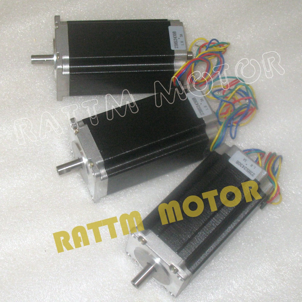 Ship From DE & Free Tax!!! 3 pcs NEMA23 425 Oz-in /112mm / 3A CNC Dual shaft stepper motor stepping motor free shipping nema23 425 oz in cnc stepper moto 3 0a cnc stepping motor 23hs2430