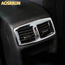 Aosrrun автомобильные аксессуары ABS хромированной отделкой сзади розетка кондиционера крышка украшение для Peugeot 3008 2012 2013 2014 2015