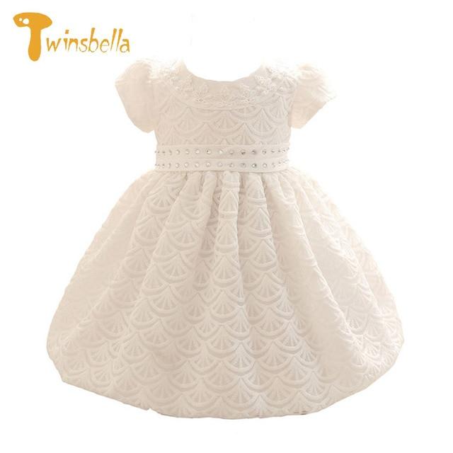 TWINSBELLA Baby Girl Dress Cute Infant Kids Dress Newborn Girl 1 Year Birthday Dress Baby Christmas Christening Dresses