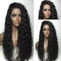 Glueless Вьющиеся Полный Шнурок Парик Человеческих Волос Малайзийские Виргинские Человеческие Волосы Бесклеевого Парик Фронта Шнурка Для Чернокожих Женщин с Высокой Плотностью