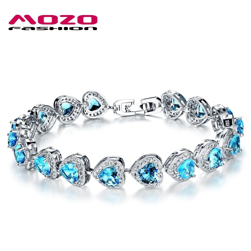 Wholesale Fashion Women Jewelry Platinum Plated Bracelets ...