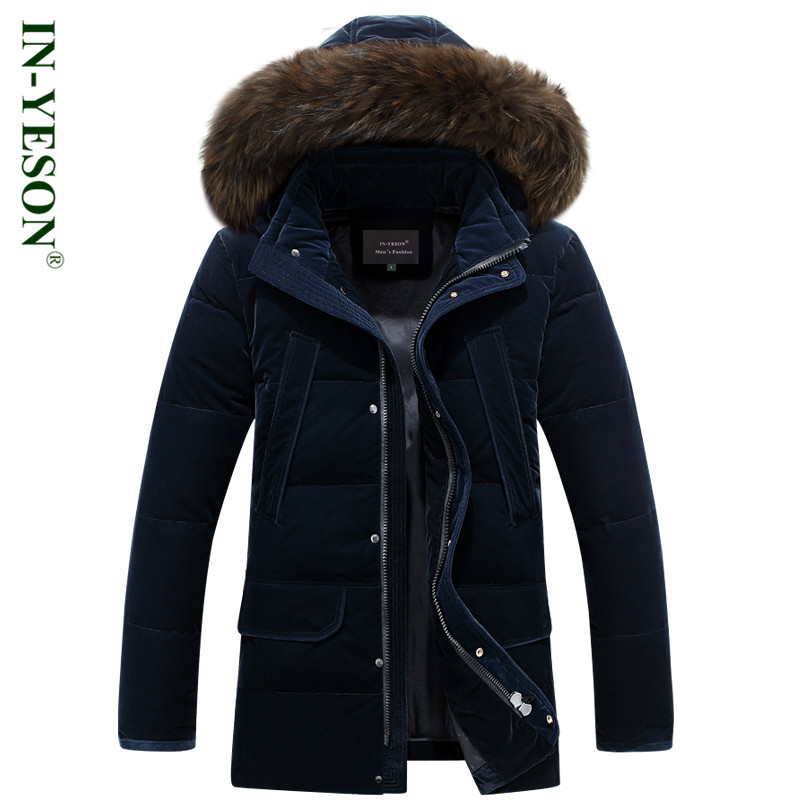 New Plus Size 4XL Russia Winter Down Jacket Men Medium Long Thicken Warm Fur Collar White Duck Down Coat Jacket Men -40 degree 2015 new hot winter thicken warm woman down jacket coat parkas outerwear rabbit fur collar luxury slim long plus size xl high