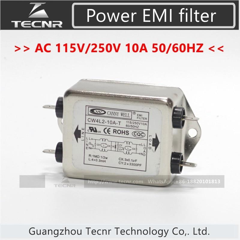 все цены на CANNY WELL CW4L2-10A-T Single Phase Power EMI filter AC 115V / 250V 10A 50/60HZ