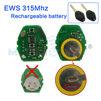 Remote Key Rechargeable Battery Circuit Board 315Mhz 3 Button For BMW EWS Car Key