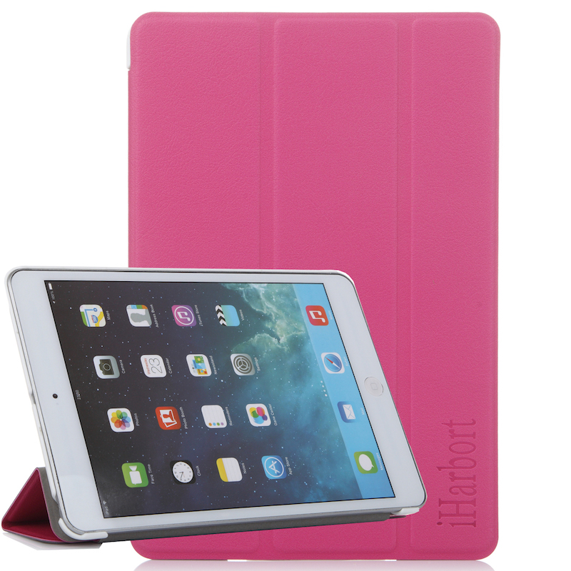 Stand Case for iPad mini 3/2/1, iHarbort PU Magnetic Leather mini Smart Case Cover Stand with 3 Fold and Auto Sleep/ Wake Up case for ipad mini 4 3 2 1 pu leather transformers smart cover for with silicone soft back auto wake up