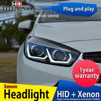 Hireno Headlamp for 2015 2016 Chevrolet Cruze Headlight Headlight Assembly LED DRL Angel Lens Double Beam HID Xenon 2pcs