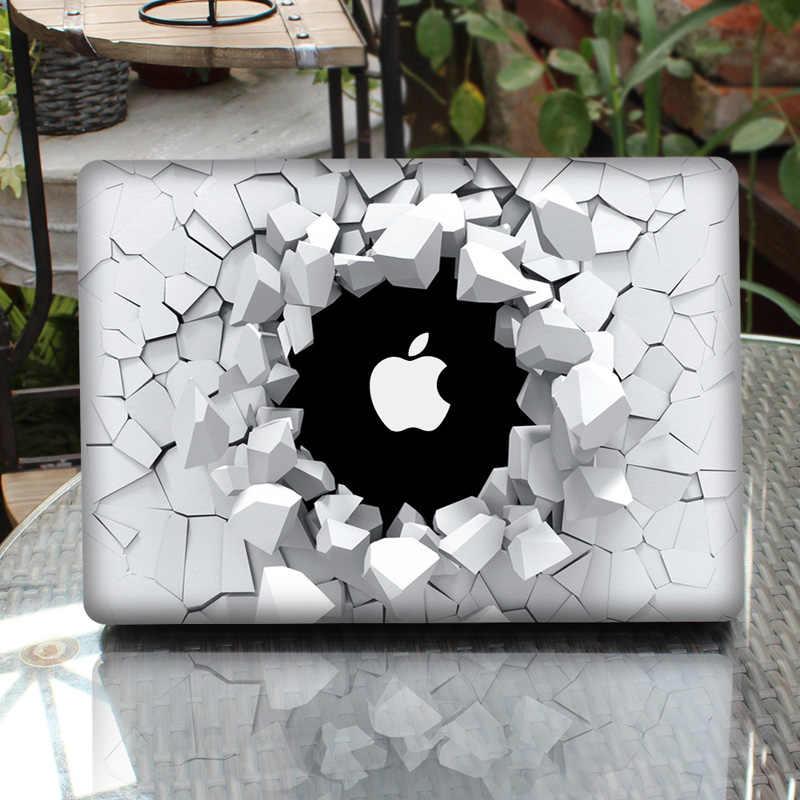"""3D trou ordinateur portable autocollant peau pour MacBook Air Pro Retina 11 """"13"""" 15 """"vinyle Mac Case corps couverture complète peau"""