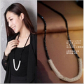 Trendy Crystal Snowflakes Bead Necklaces Pendants Petty Long Chain Female Fashion Jewelry Making Classic Choker Necklaces